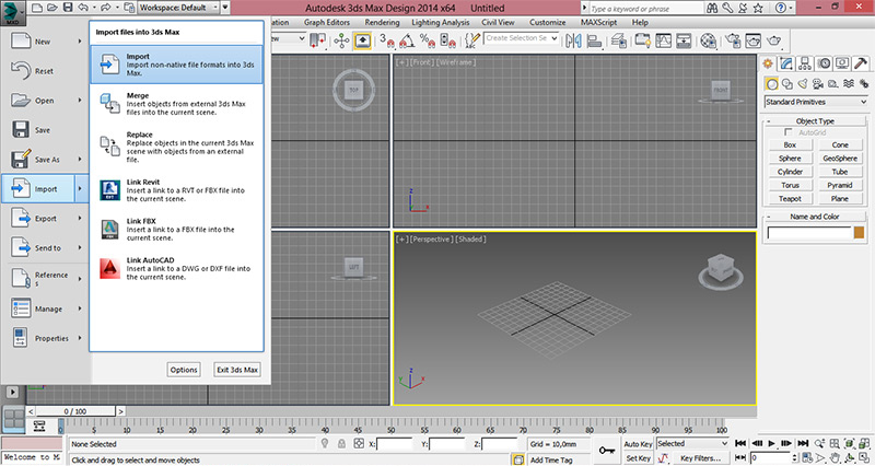 3dsmax2 - How to open the STL model in the program 3ds Max