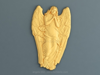 ANGELS 002 | STL – 3D model for CNC