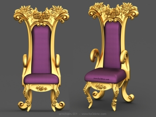ARMCHAIRS 001 | STL – 3D model for CNC