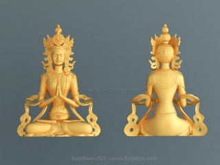 BUDDHISM 001 | STL – 3D model for CNC