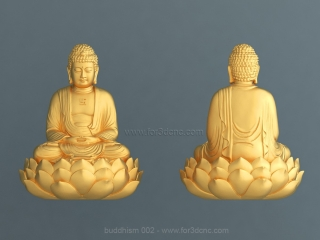BUDDHISM 002 | STL – 3D model for CNC