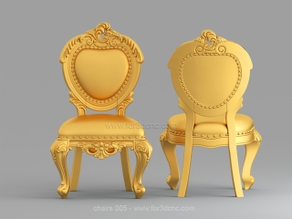 CHAIRS 005 | STL – 3D model for CNC