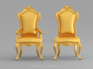 CHAIRS 008 | STL – 3D model for CNC