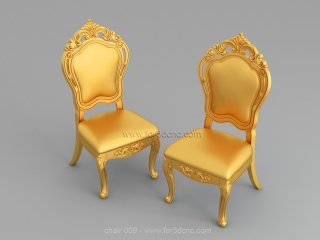 CHAIRS 009 | STL – 3D model for CNC