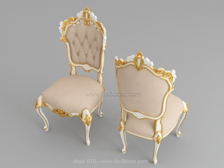 CHAIRS 010   STL – 3D model for CNC