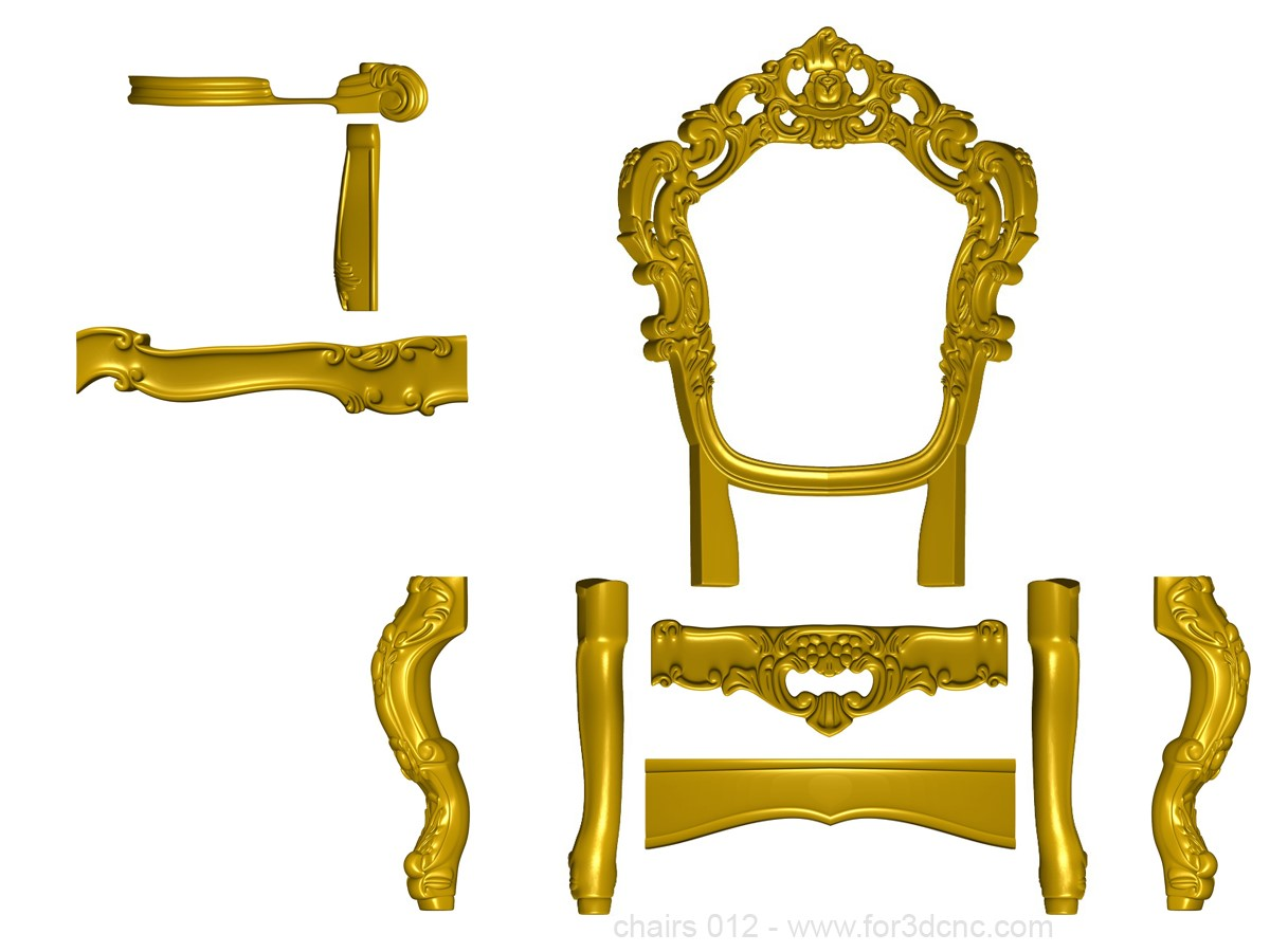 chairs 012 1 ww for3dcnc com - SAMPLE STL 3D MODELS: CHAIRS