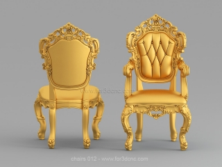 CHAIRS 012 | STL – 3D model for CNC