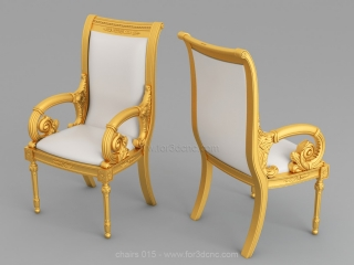 CHAIRS 015 | STL – 3D model for CNC