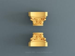 COLUMN 006 | STL – 3D model for CNC