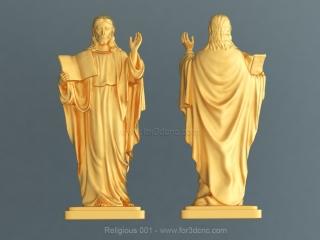 RELIGIOUS 001   STL – 3D model for CNC