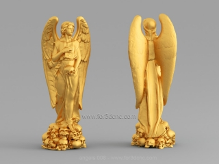 ANGELS 008 | STL – 3D model for CNC