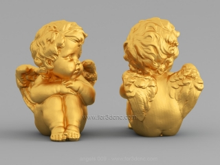 ANGELS 009 | STL – 3D model for CNC