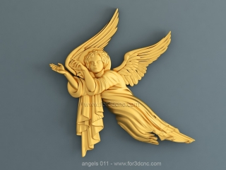 ANGELS 011 | STL – 3D model for CNC