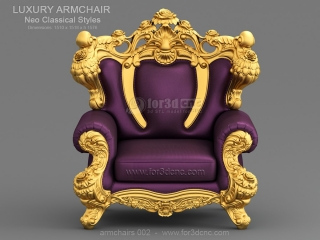 ARMCHAIRS 002 | STL – 3D model for CNC