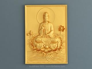 BUDDHISM 003   STL – 3D model for CNC