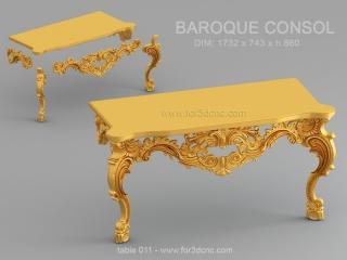 TABLE 011 | STL – 3D model for CNC
