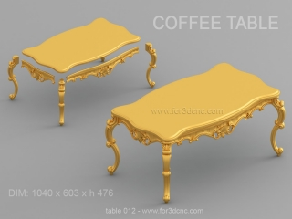 TABLE 012 | STL – 3D model for CNC