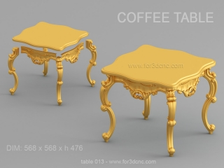 TABLE 013 | STL – 3D model for CNC