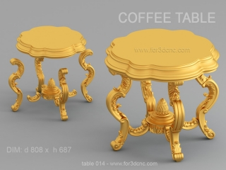 TABLE 014 | STL – 3D model for CNC