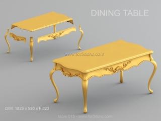 TABLE 015 | STL – 3D model for CNC