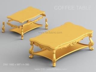 TABLE 016 | STL – 3D model for CNC