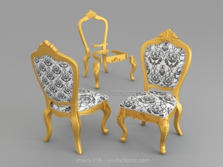 CHAIRS 018 | STL – 3D model for CNC