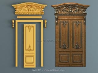 DOOR 001 | STL – 3D model for CNC