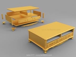TABLE 017 | STL – 3D model for CNC