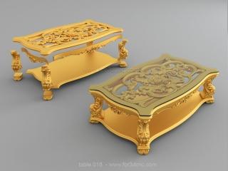 TABLE 018 | STL – 3D model for CNC