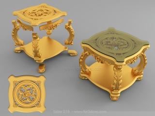 TABLE 019 | STL – 3D model for CNC