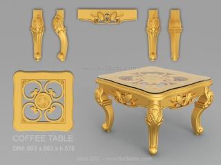 TABLE 020 | STL – 3D model for CNC