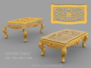 TABLE 021 | STL – 3D model for CNC