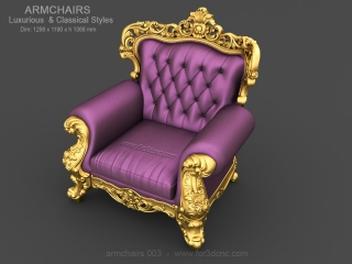 ARMCHAIRS 003 | STL – 3D model for CNC