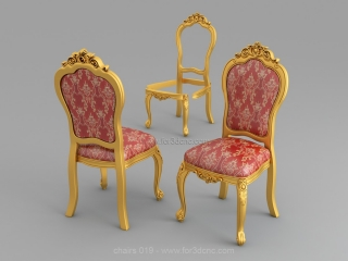 CHAIRS 019 | STL – 3D model for CNC