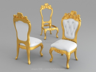 CHAIRS 026 | STL – 3D model for CNC