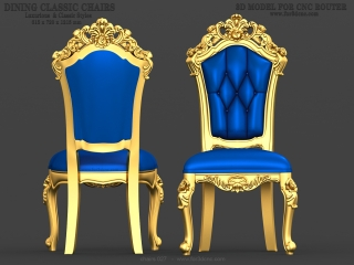 CHAIRS 027 | STL – 3D model for CNC