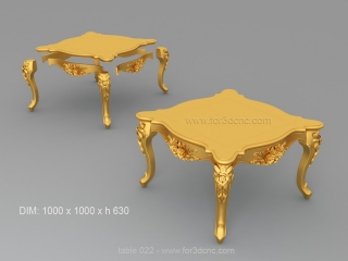 TABLE 022  | STL – 3D model for CNC