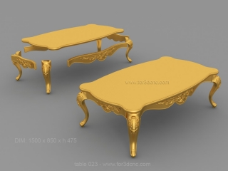 TABLE 023 | STL – 3D model for CNC
