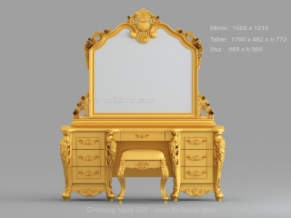 DRESSING TABLE 001 | STL – 3D model for CNC