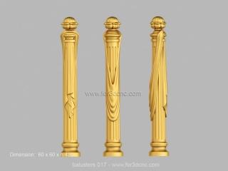 BALUSTERS 017 | STL – 3D model for CNC
