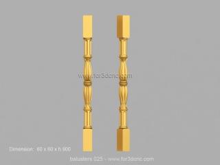 BALUSTERS 025 | STL – 3D model for CNC