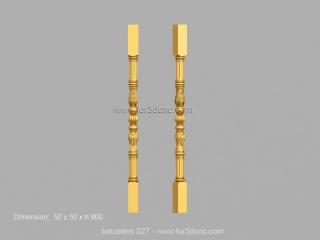 BALUSTERS 027 | STL – 3D model for CNC