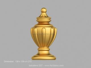 BALUSTERS 037 | STL – 3D model for CNC