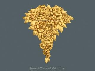 FLOWERS 003 | STL – 3D model for CNC