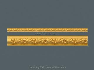 MOULDING 030 | STL – 3D model for CNC
