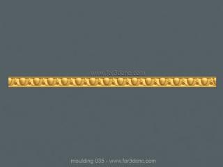 MOULDING 035 | STL – 3D model for CNC
