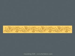 MOULDING 038 | STL – 3D model for CNC