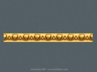 MOULDING 046 | STL – 3D model for CNC