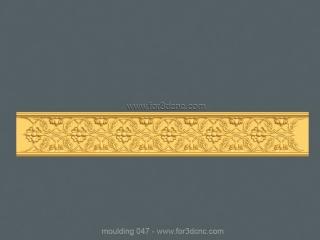 MOULDING 047 | STL – 3D model for CNC