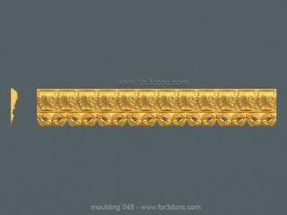 MOULDING 048 | STL – 3D model for CNC
